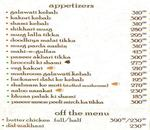 Whistling Spices Menu