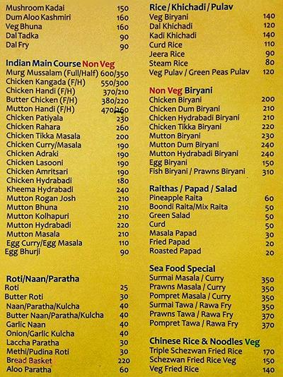 Madhuban Family Restaurant & Bar Menu 2