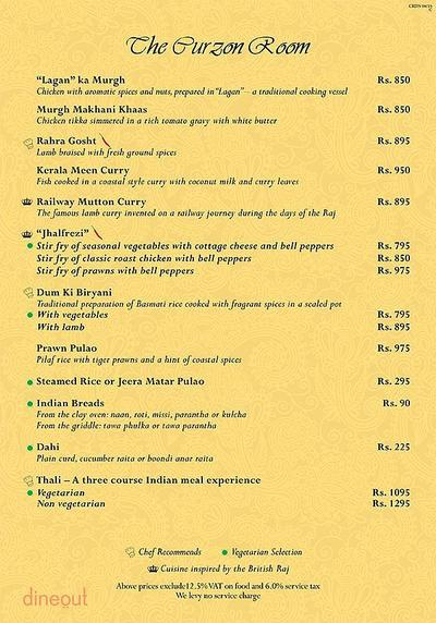 The Curzon Room - Maidens Hotel Menu 13