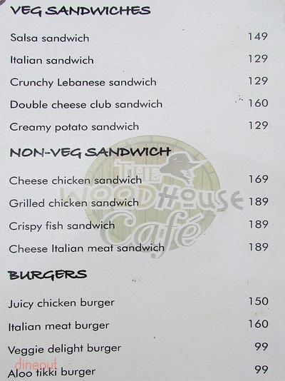 The Woodhouse Cafe Menu 2