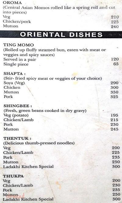 Wangchuk's Ladakhi Kitchen Menu 2