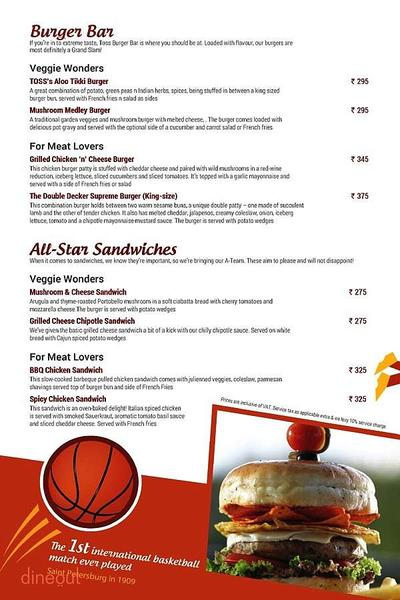 Toss Sports Lounge Menu 9