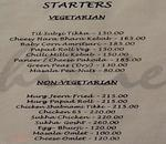 Chillies Restaurants Menu