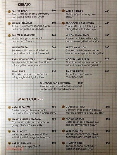 All Bar One Menu 1