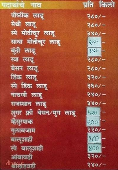 Chitale Bandhu Mithaiwale Menu 1