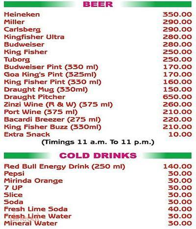 Grand Restaurant & Beer Bar Menu 11
