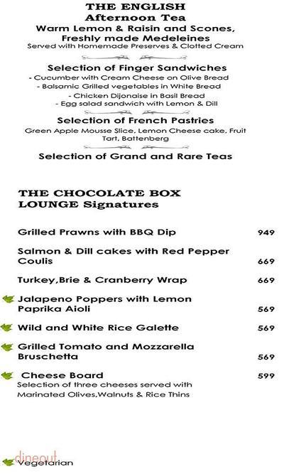 The Chocolate Box - Radisson Blu Menu 2
