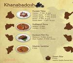 Khanabadosh Menu