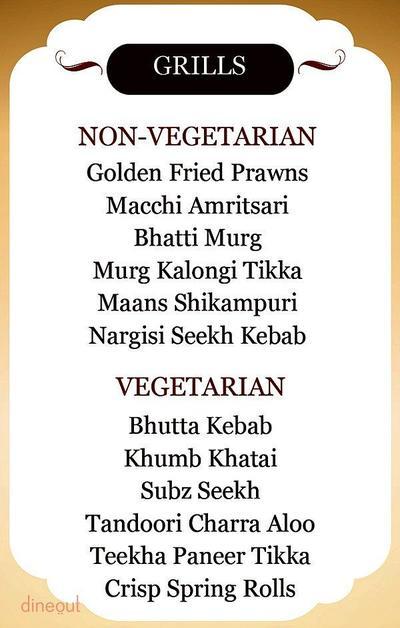 Indian Grill Company Menu