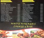 White Walkers Lounge & Bar Menu