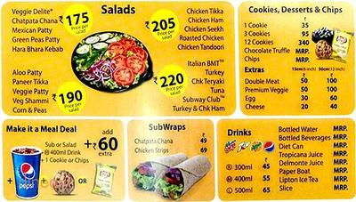 Subway Menu 1
