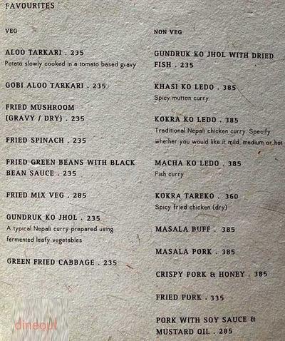 Yeti, The Himalayan Kitchen Menu 7