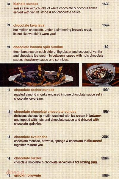 The Chocolate Room Menu 8