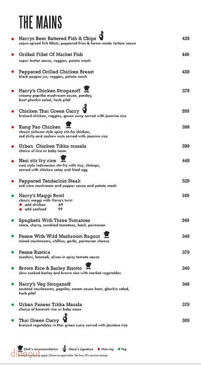 Harry's Bar + Cafe Menu 4