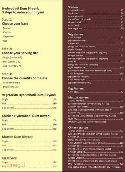 Lazeez By Hyderabadi Delicacies Menu 1