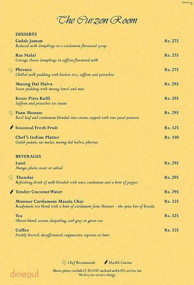 The Curzon Room - Maidens Hotel Menu 11