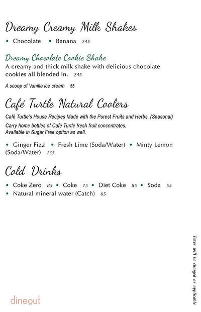 Cafe Turtle Menu 12