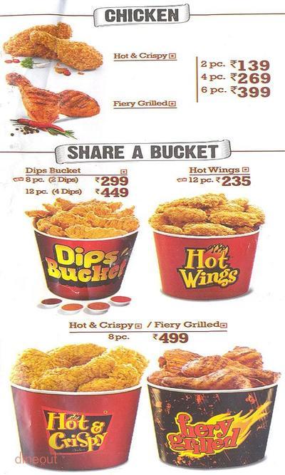 KFC Menu 3