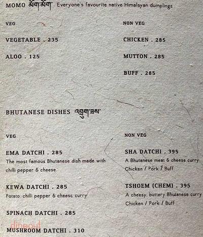 Yeti, The Himalayan Kitchen Menu 5