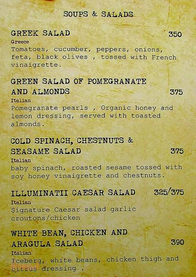 Cafe Illuminatii Menu 5