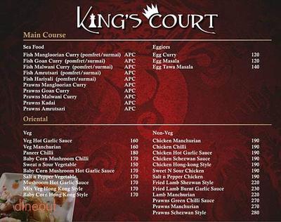 King's Court Menu 3