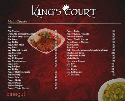 King's Court Menu 6