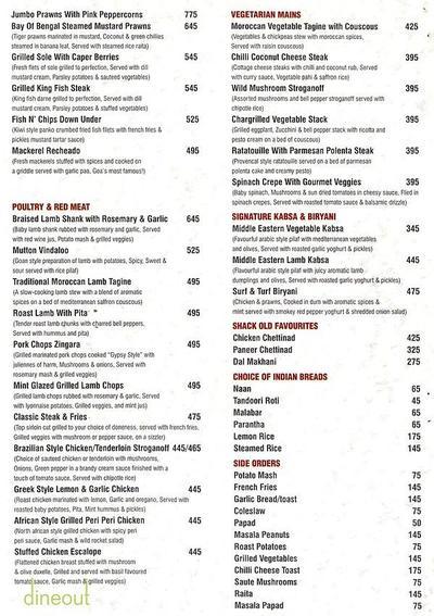 MOETS SHACK - Global Rustic Lounge Menu 1