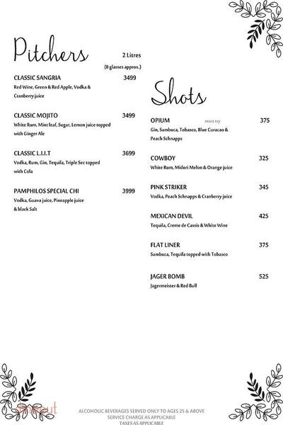 Pamphilos Kitchen & Bar Menu 16