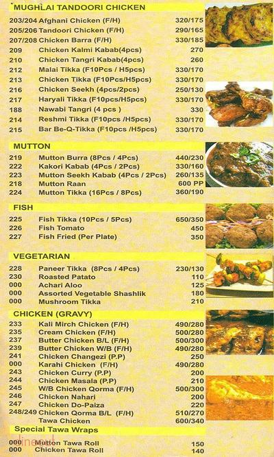 Saleem's Restaurant Menu