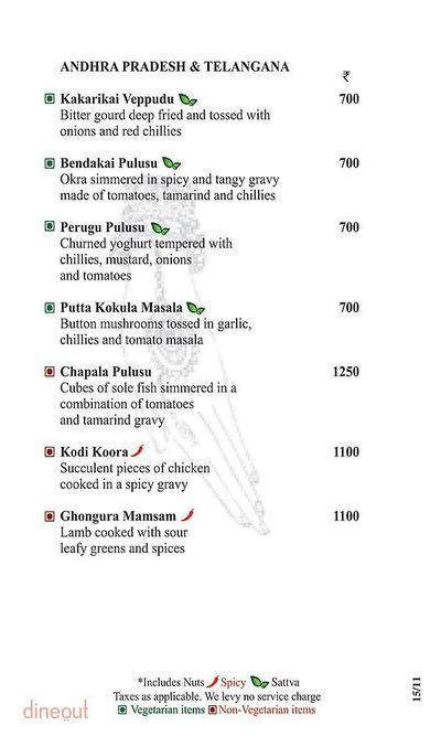 Dakshin - Sheraton New Delhi Hotel Menu 4