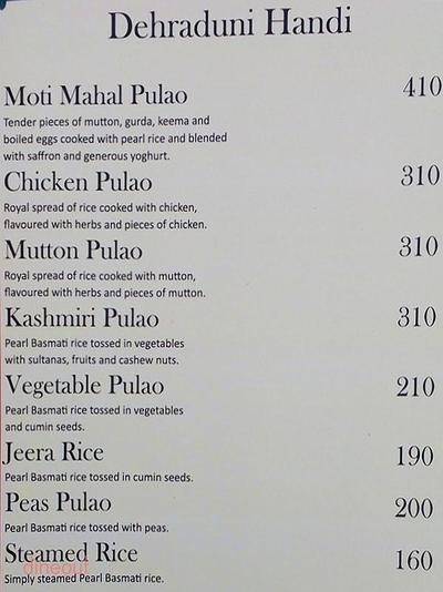 Moti Mahal Restaurant & Bar Menu 5