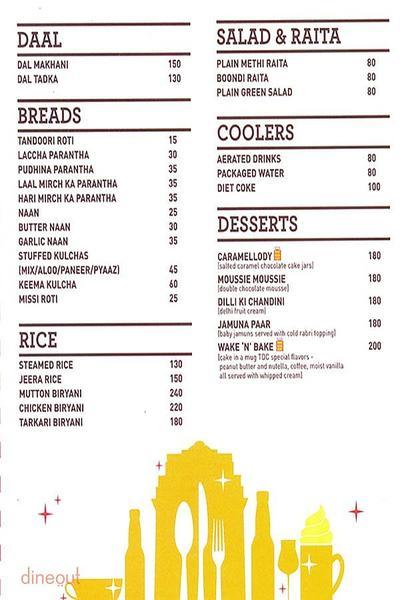 The Delhi Canteen Menu 2