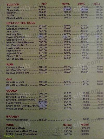 Snehal Restaurant And Bar                                Menu 3