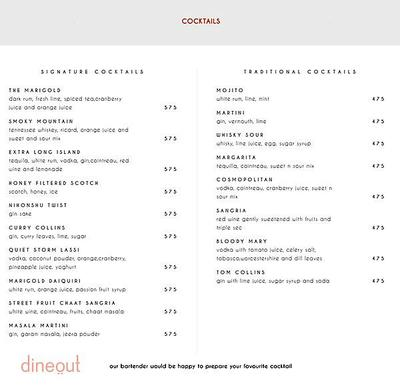 Indian Accent - The Manor Menu 10