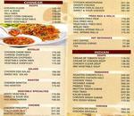 Dimple Restaurant & Bar Menu