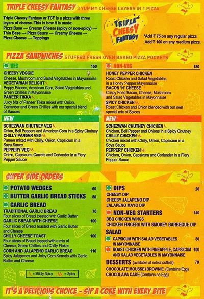 Smokin' Joe's Menu