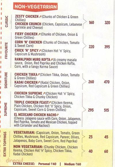 Pizza Hut Menu 1
