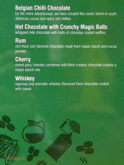 The Chocolate Room Menu 17