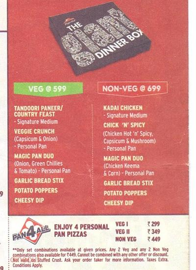 Pizza Hut Menu 5