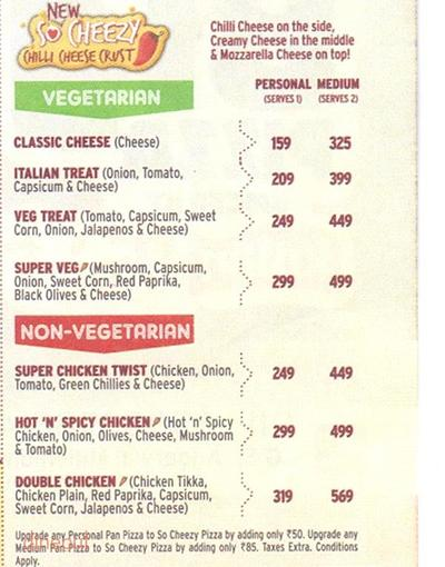 Pizza Hut Menu 6