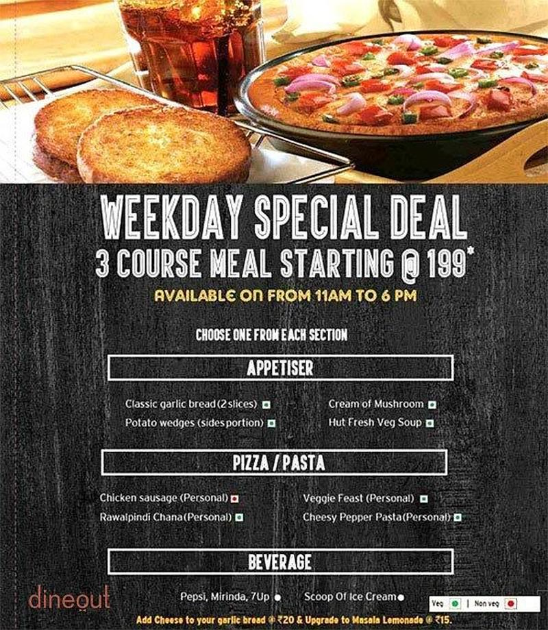 Menu Of Pizza Hut Madhapur Hyderabad Dineout Discovery