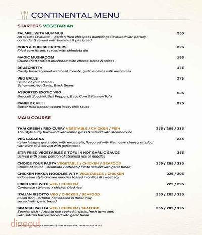 Atlantics Bar Grill & Banquets Menu 1