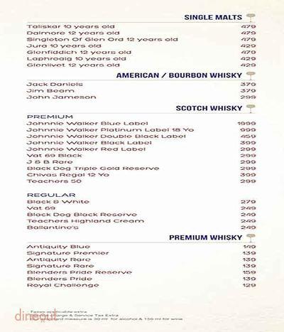 Atlantics Bar Grill & Banquets Menu 7