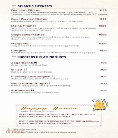 Atlantics Bar Grill & Banquets Menu 11