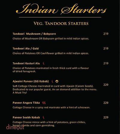 Global Punjab Menu