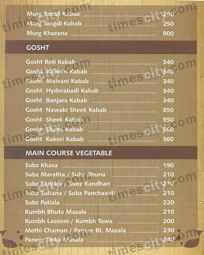 Yashodhan Garden Family Restaurant Menu 1