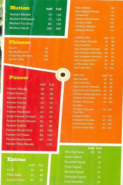 Food Inn Menu 1