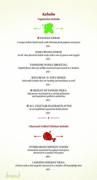 Zaheer Khan's Dine Fine Menu 2