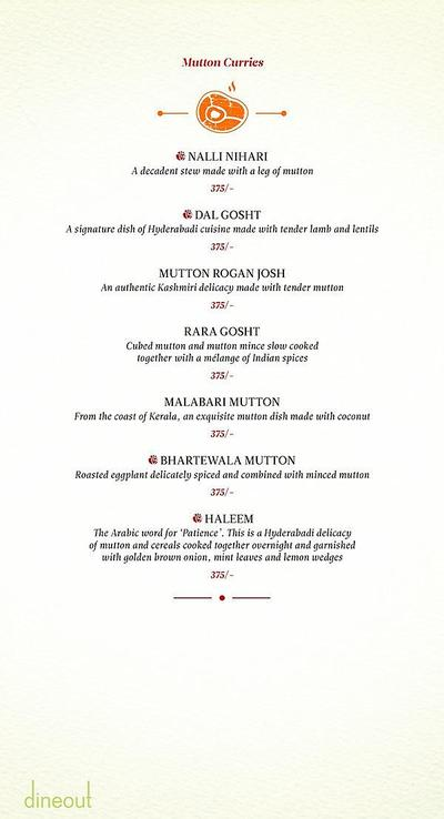 Zaheer Khan's Dine Fine Menu 7