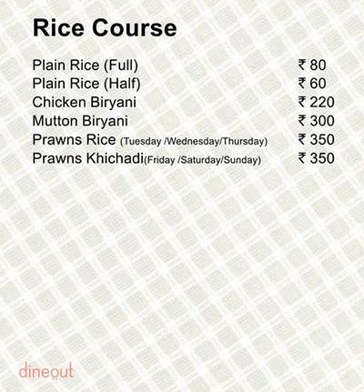 Fish Curry Rice Menu